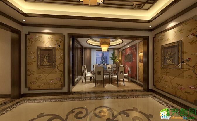 空间类型:中式风格 四室两厅两卫 房屋面积:203 装修方式:半包 工程造价:30万 国奥村案例 户型平层 面积203 案例风格中式 所在城市重庆 装修预算30万 设计说明客厅、餐厅、卧室等完全体现现代生活要求。在室内色彩方面,本案以红色、琉璃黄、玉脂白、木原色来打造新中式的气氛。除了保留中式的韵味外,还加了大理石、灯带、等现代材料,使空间又包含了现代生活气息;光源上舍弃了以往的