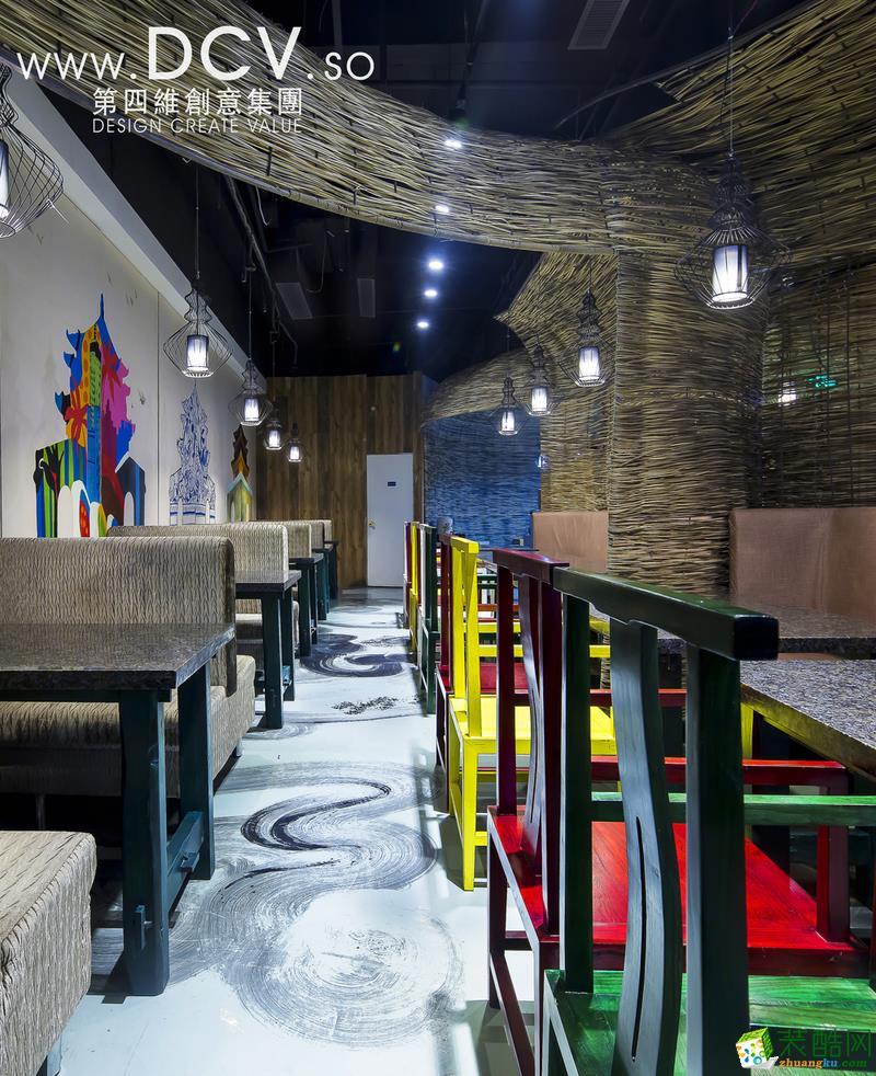 西安最特色餐厅设计-大厨小馆特色餐厅设计(万达店)