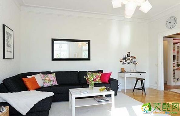 重庆欧也装饰-63平两居室彩色装修样板房