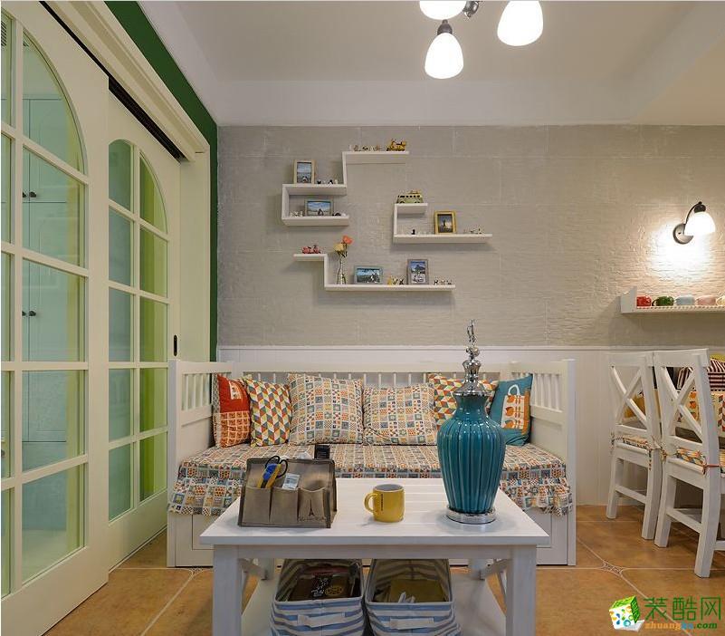 清新风两居室装修设计效果图-多彩空间