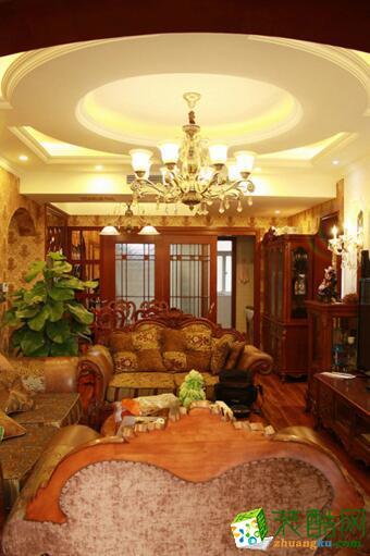 成都大筑装饰-润禾花园古典欧式装修案例