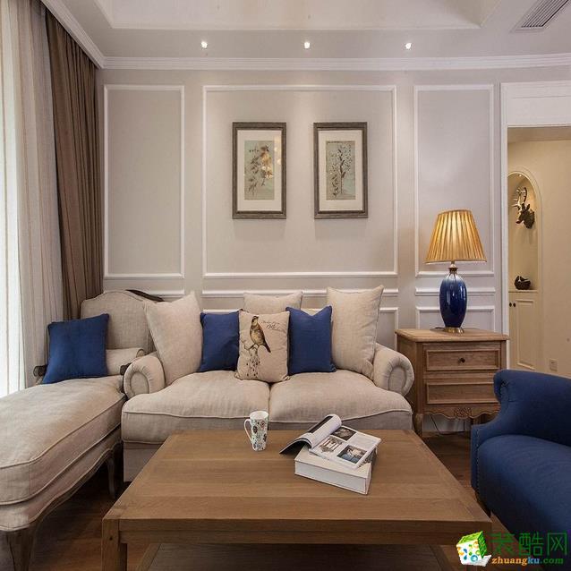 世邦装饰-三室两厅简欧风装修设计效果图