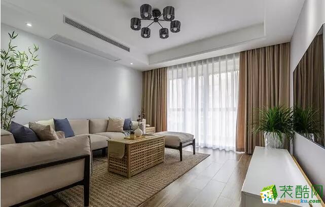 塞纳春天装饰-88平米两居室装饰案例