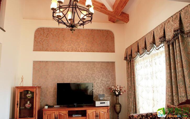 客厅 乾维天下居装饰跃层美式样板房 ,大气时尚