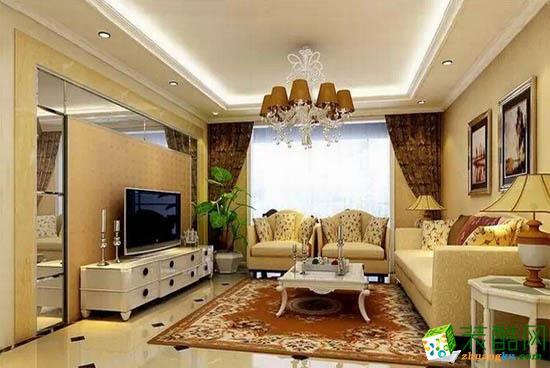 成都紫名都装饰-三室二厅欧式样板房装修效果图三室两厅一卫
