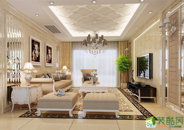 成都大筑装饰-103平米现代简约风格装修案例图