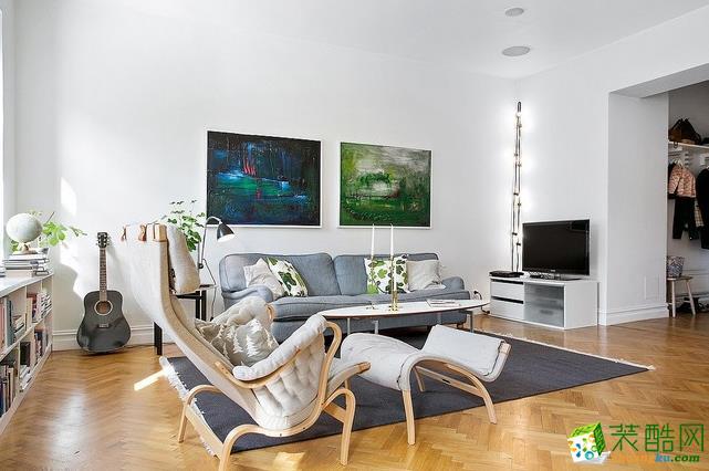 柠檬树装饰-现代简约风格婚房两厅婚房装修设计效果图