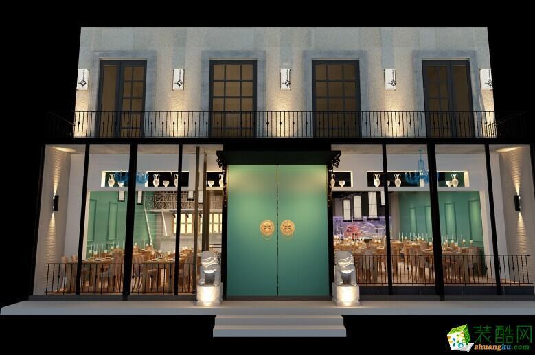 成都新和装饰-工装300平米混搭风格饭店装修案例图
