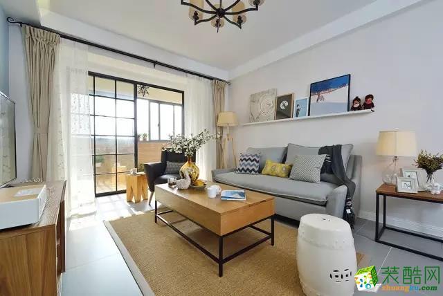 纯简易家装饰100平混搭三居室装修效果图