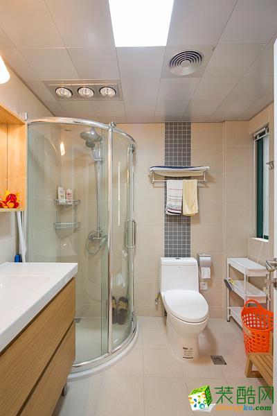 纯简易家装饰120平现代简约三居室装修效果图