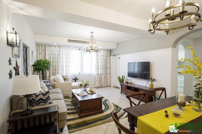 成都大晶装饰-美式田园风格三居室110平米装修案例