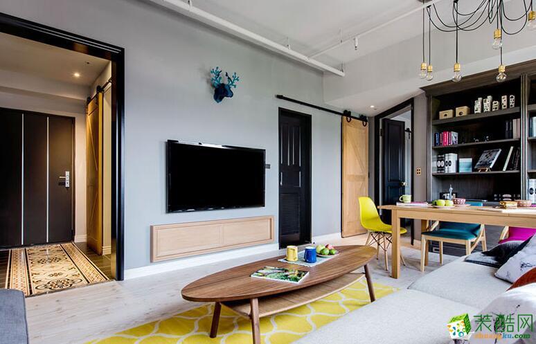 成都美家堂装饰-混搭风格两居室53平米装修案例