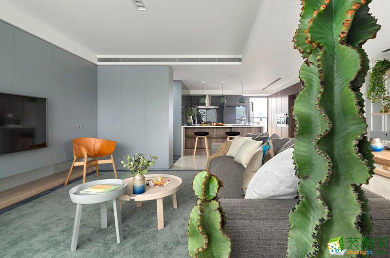 成都帝睿装饰-现代简约风格105平米三居室装饰案例
