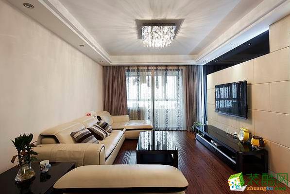 奥林装饰-100平现代风三室两厅装修设计效果图