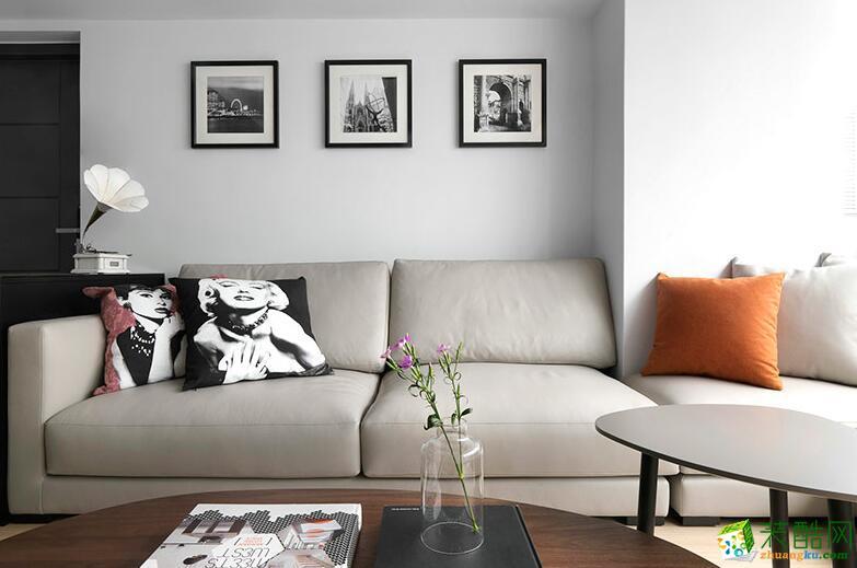 西安快一步装饰-99平现代简约风格装修效果图