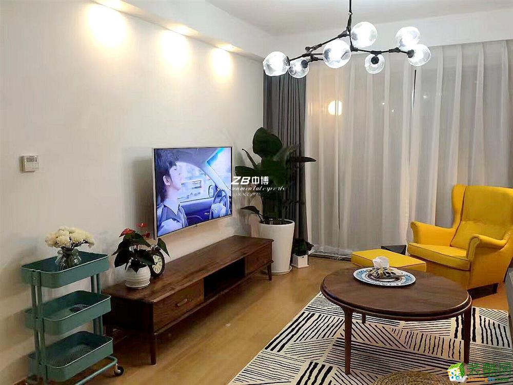 客厅 中博装饰-乍暖还寒,心若素简-观澜时代朗轩89方北欧风格舒适居家图片
