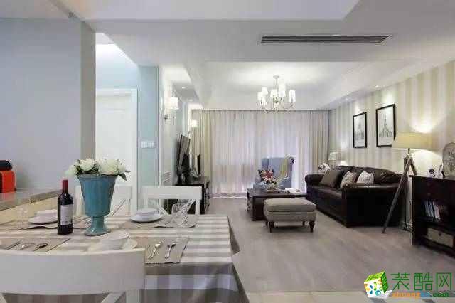 100平米现代美式3居室