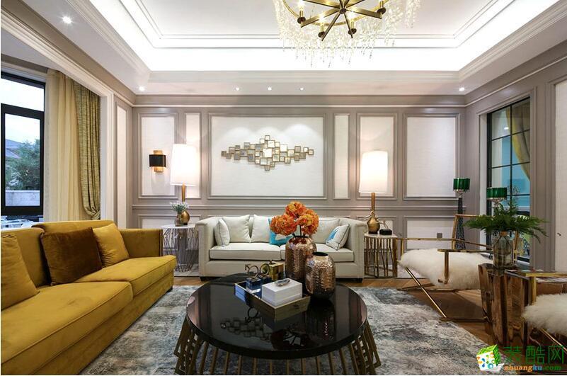 成都良美装饰-284平米简约风格别墅住宅装修案例图