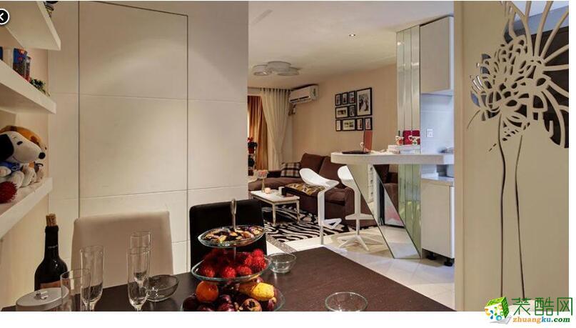 康庄家庭装饰―135�O三室一厅田园风格装修案例图