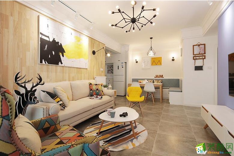 成都创美家装饰-两居室北欧风格90平面装修案例图