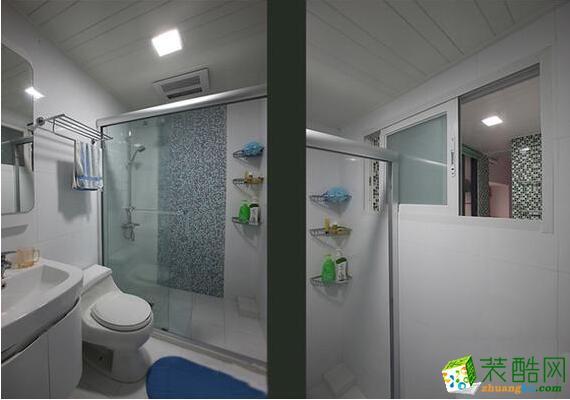 成都新空间装饰-89平米现代风格三居室装修案例图