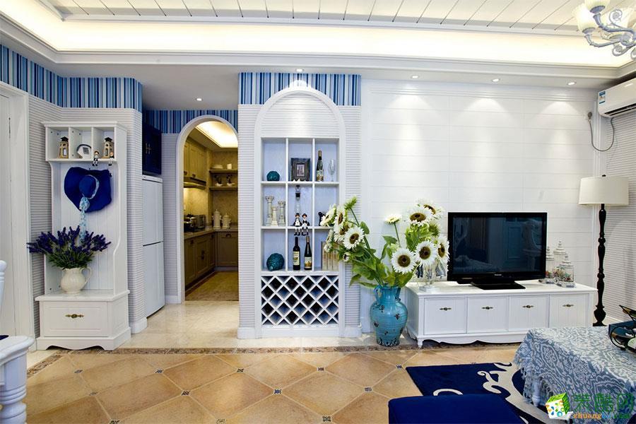 成都良美装饰-中华名园地中海风格三居室130平米装修案例图