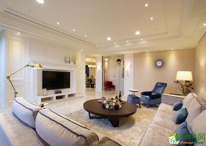 成都帝睿装饰-南城都汇现代风格三居室120平米装修案例图
