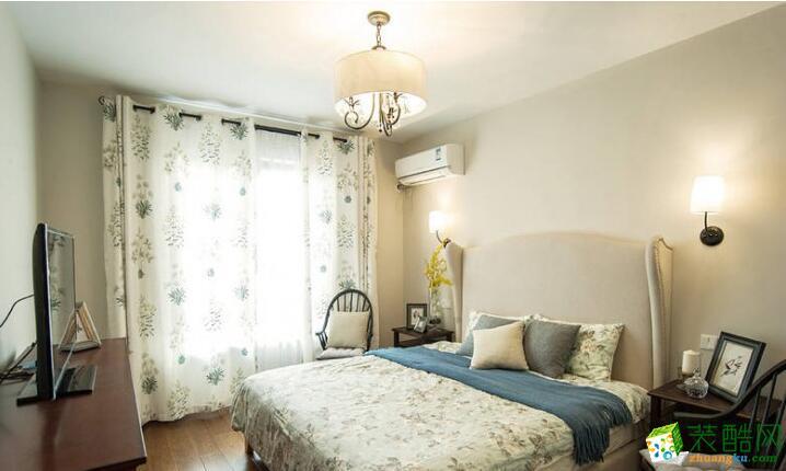 成都创美家装饰-翡翠城三居室134平米现代风格装修案例图