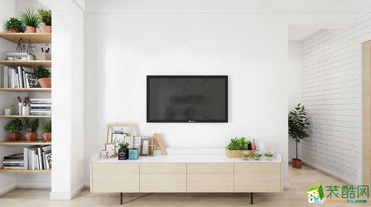 华乔装饰-北欧风格两居室98平米装修案例图