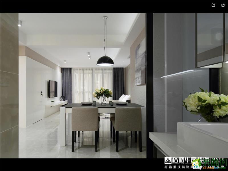 格调华冠―120�O三室一厅现代风格装修案例图