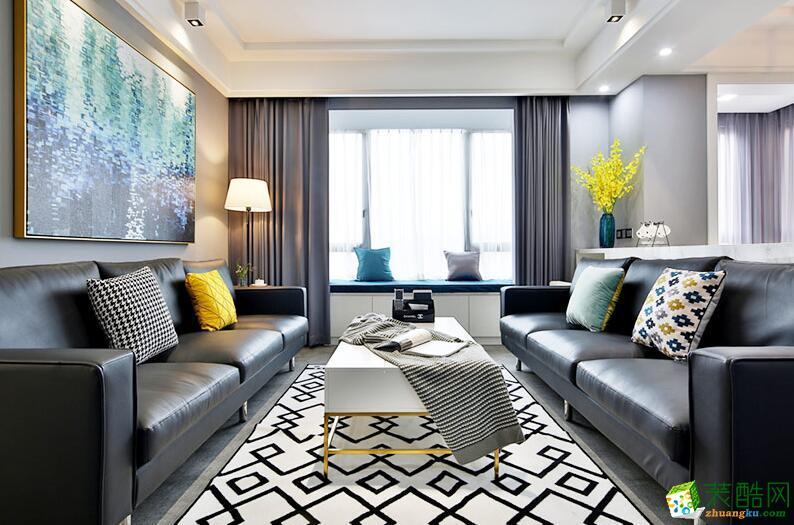 苹果装饰-90平米两居室现代简约风格