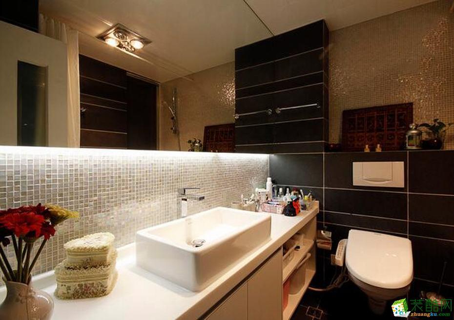 锦尚装饰―120�O现代简约风格三室一厅装修效果图