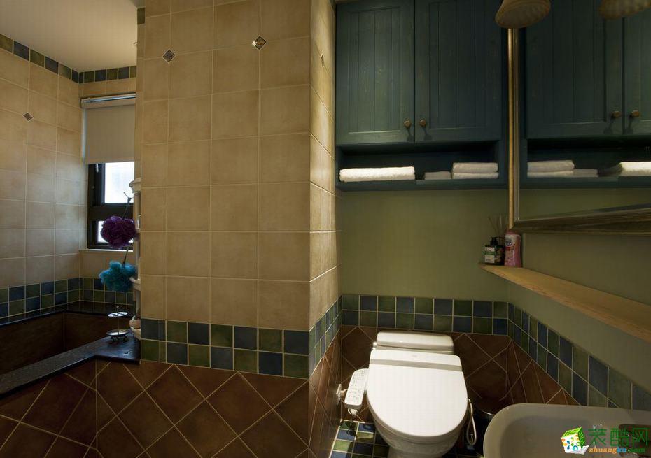 格调华冠―78平米两室一厅美式风格装修效果图