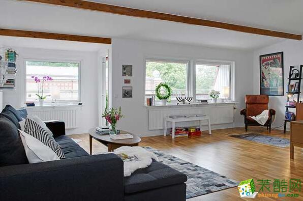 锐林装饰-现代风格两居室80平米装修案例图