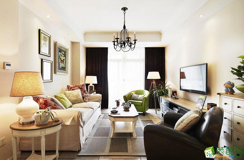 龙鹏宇装饰-两居室80平米美式风格装修案例