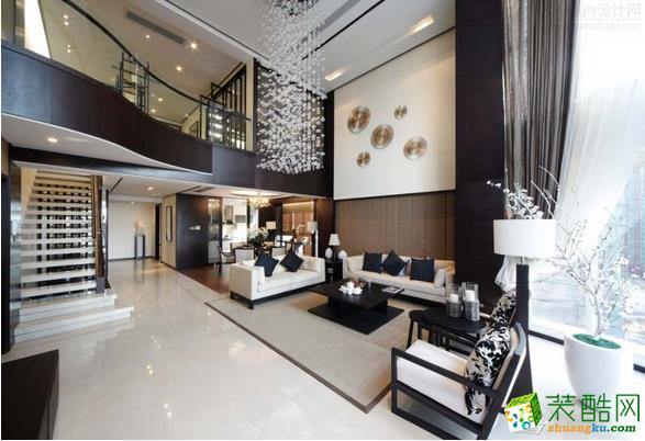 中园装饰-250平中式复式大宅装修效果图