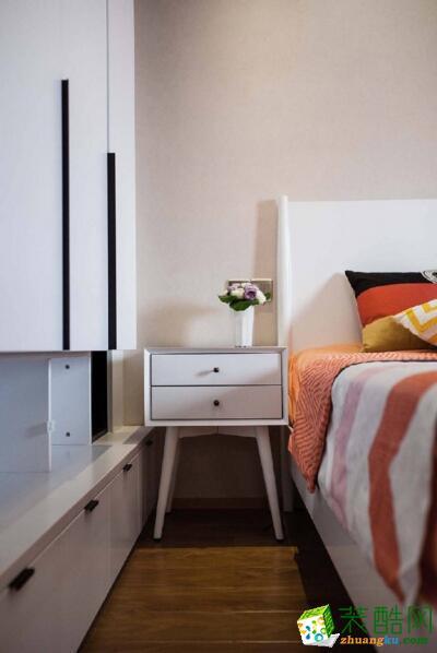 今朝装饰-现代简约风格两居室86平米装修案例