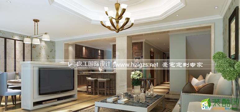 良工装饰-450平简美别墅装修设计效果图