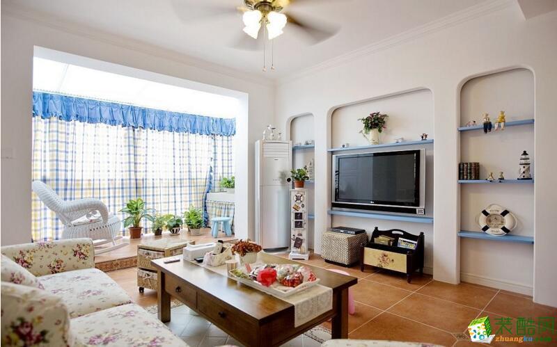 天谷豪佳装饰-中华名园地中海风格跃层住宅144平米装修案例图