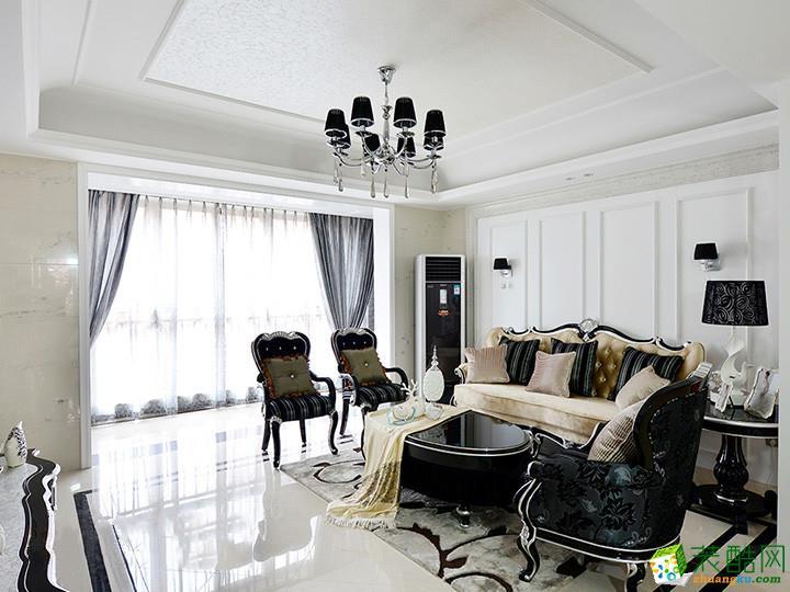 家装案例|天庆嘉园简约欧式设计风格样板房_天水城市人家