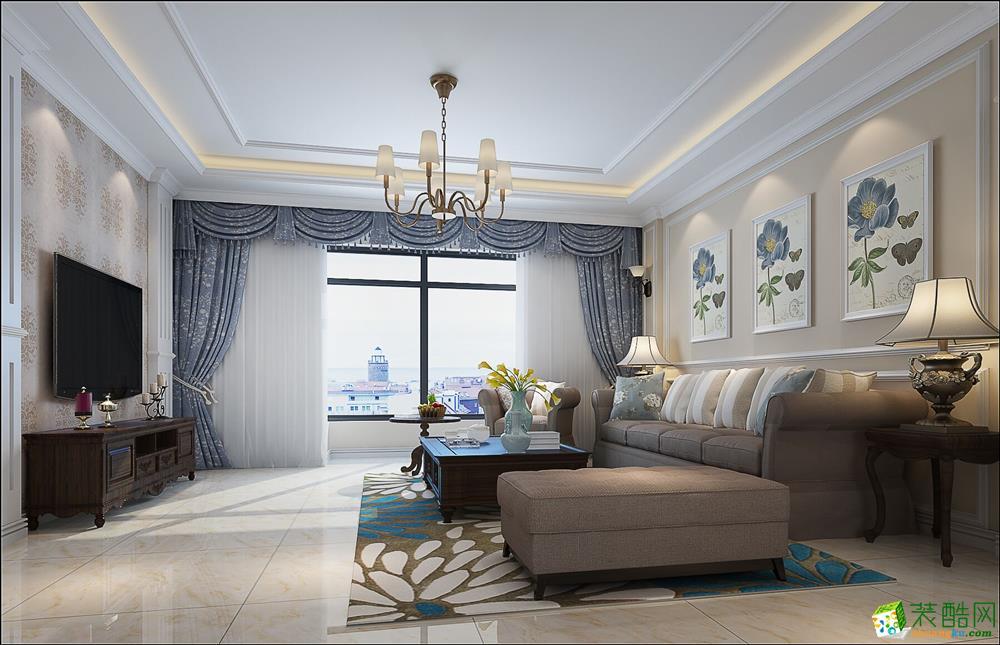 【艺彩空间】省军区家属院140平美式风格效果图