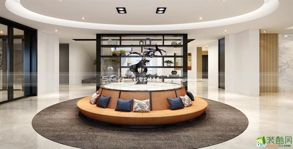 星杰装饰―云桂花园400平米现代别墅装修效果图