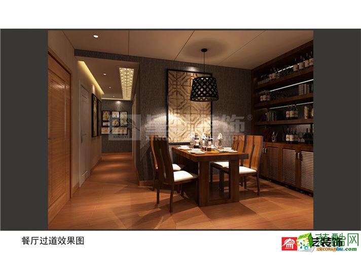 天津星艺装饰―季景华庭三室新中式风格装修效果图