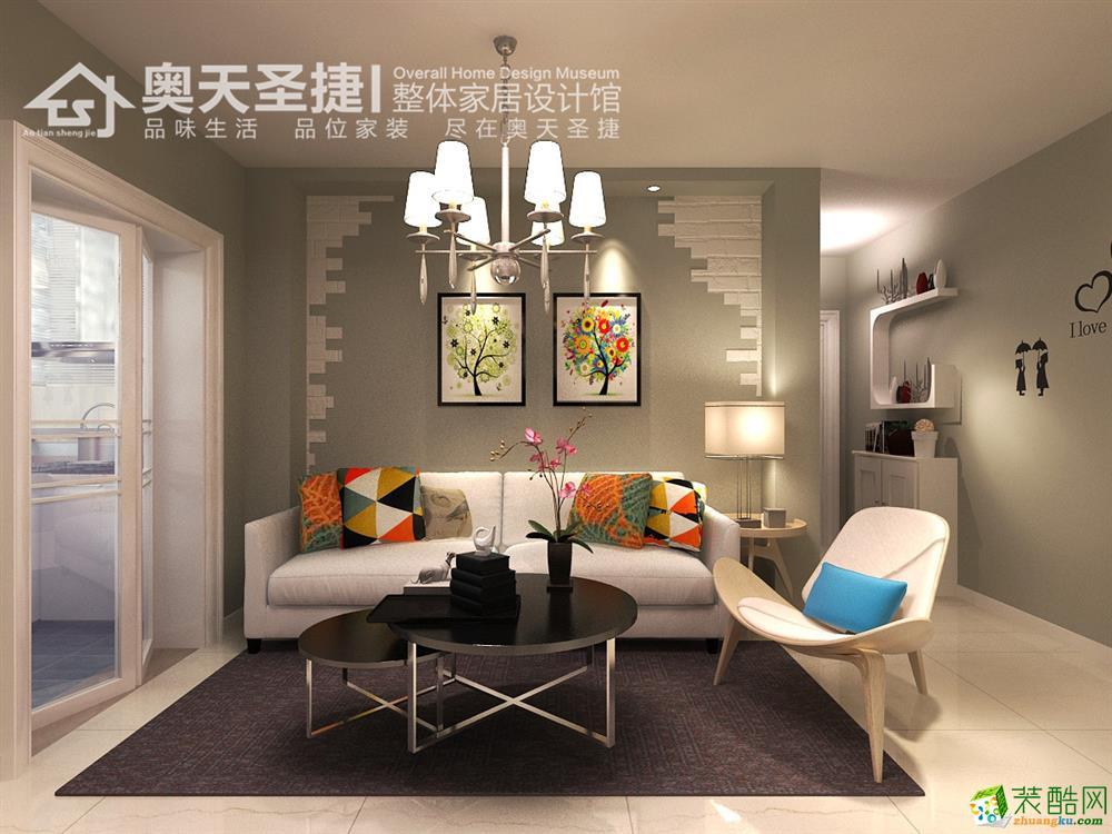 奥天圣捷装饰―碧水里 98平米现代风格装修效果图