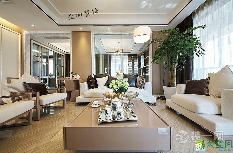 亚加装饰―中外公寓256平米现代简约风格装修效果图