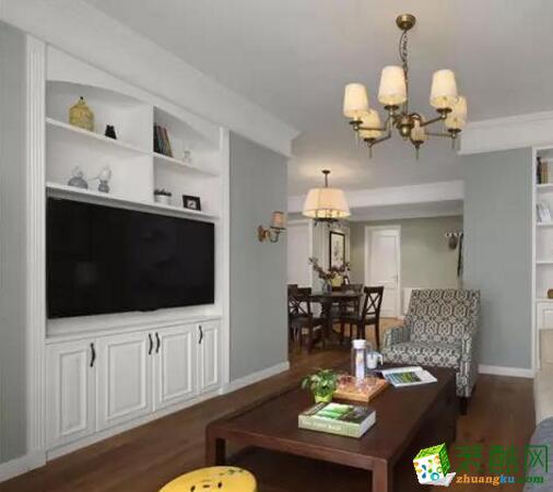 德发装饰-110平米美式风格三居室装修案例