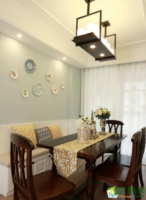 一号家居-皇冠国际四居室140平米美式风格装修案例