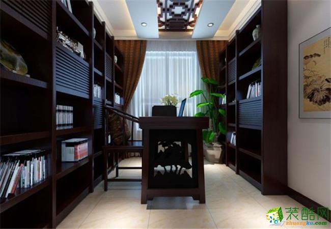沐�N装饰―万科汉阳国际119平米现代中式风格装修效果图