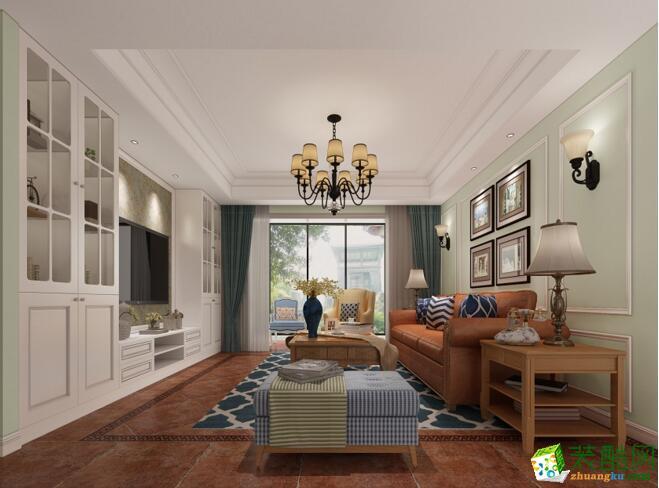 楷模装饰-162平米美式风格四居室装修案例图