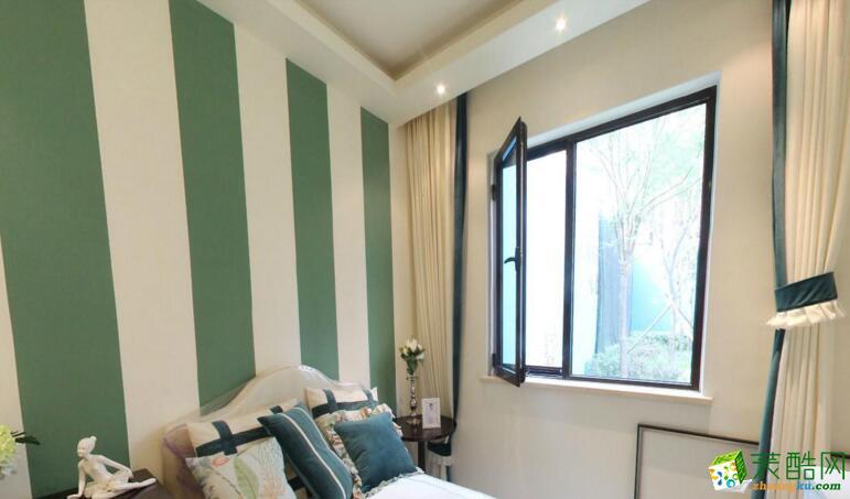 天怡美装饰- 龙湖U城美式风格108平米三居室装修案例图